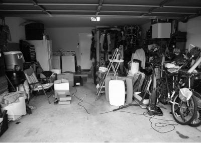1a. Messy Garage Before B&W
